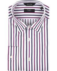 Paul Smith White Stripe Shirt Navy - Lyst