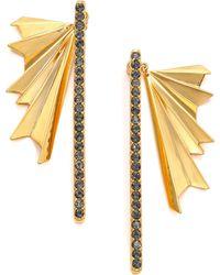 Giles & Brother | Ray Burst Pavé Crystal Ear Jacket & Drop Earrings Set | Lyst