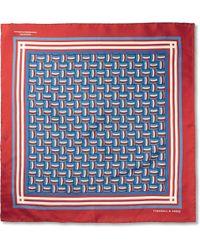 Turnbull & Asser Printed Silk Pocket Square - Lyst