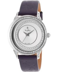 Thierry Mugler Women'S Blue Genuine Leather Silver-Tone Dial - Lyst