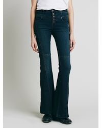 Free People Womens Night Out High Rise Flare - Lyst