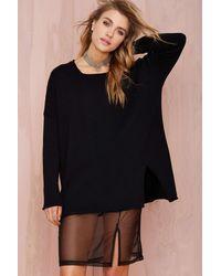Nasty Gal Zoe Sweater Dress black - Lyst