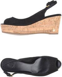 Tory Burch Black Sandals - Lyst