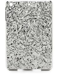 Marc By Marc Jacobs Ipad Mini Foil Tablet Case - Silver - Lyst