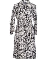 Jil Sander Knee-Length Dress black - Lyst