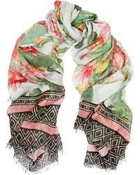 Matthew Williamson Cactus Garden Printed Modal and Cashmere-blend Scarf - Lyst