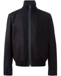 Ermenegildo Zegna Ribbed Collar Jacket - Lyst