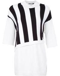 3.1 Phillip Lim Three-Quarter Striped Layer Sweater - Lyst