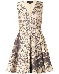 Giambattista Valli Leopard-Jacquard Dress - Lyst