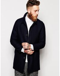 Selected Unstructured Wool Mix Overcoat - Lyst