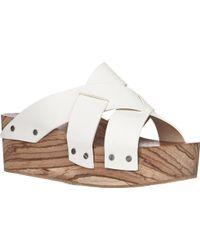 Proenza Schouler Crisscross-strap Platform Sandals - Lyst