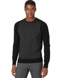 Calvin Klein Merino Wool Textured Sweater - Lyst