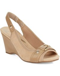 Anne Klein Perfered Slingback Wedges - Lyst