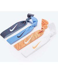 Nike - Print Hairband 4-pack In Blue And Orange - Lyst