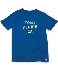 TOMS - Venice Vintage Tee - Lyst