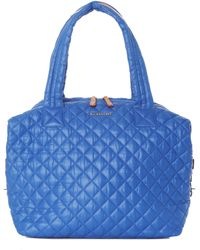 MZ Wallace - Large Sutton Sapphire Quilted Oxford Nylon - Lyst