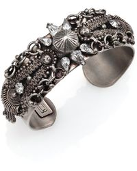 DANNIJO Locklyn Crystal Cuff Bracelet - Lyst