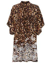 Roberto Cavalli Leopard Print Kaftan Dress - Lyst
