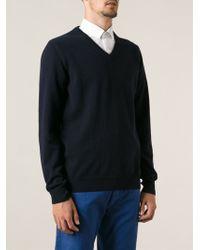 Jil Sander Classic Vneck Sweater - Lyst