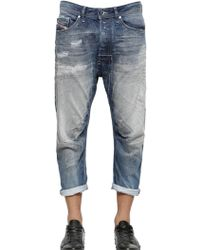 Diesel 17cm Narrot Destroyed Cotton Denim Jeans - Lyst