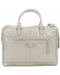 Balenciaga Pistachio Leather Studded Shoulder Bag - Lyst