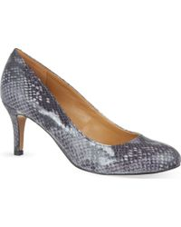 Nine West Applaud Snake Court Heels - For Women - Lyst