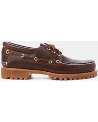 Timberland Lug Boat Shoes brown - Lyst