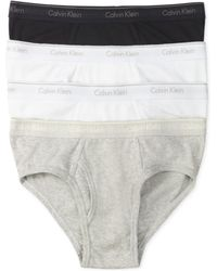 Calvin Klein Mens Classic Lowrise Hip Briefs 4pack - Lyst
