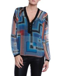 Twelfth Street by Cynthia Vincent Bell Sleeve Top - Lyst