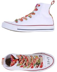 Converse High-Tops & Trainers white - Lyst
