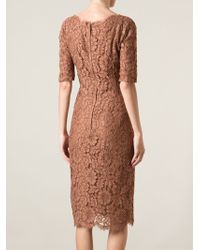 Dolce & Gabbana Floral Lace Shift Dress - Lyst