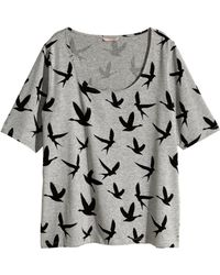 H&M + Jersey Top gray - Lyst