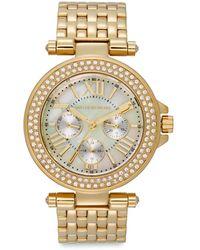 Saks Fifth Avenue - Goldtone Stainless Steel Sparkle Bracelet Watch - Lyst