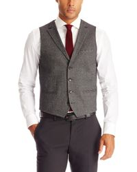 Hugo Boss W41  Slim Fit Stretch Virgin Wool and Cotton Blend Vest - Lyst