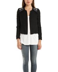 IRO Vicente Embroidered Jacket black - Lyst