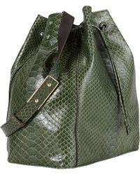 Zagliani Python Ada Bucket Bag - Lyst