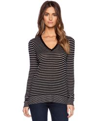 Vince Mini Stripe Tee - Lyst