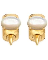 Ela Stone - 'bonnie' Oval Stone Spike Earrings - Lyst