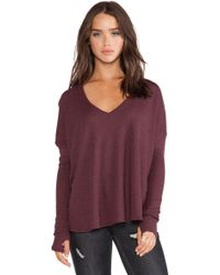 Feel The Piece Robin Thermal Flowy Top with Thumb Holes - Lyst