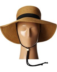 San Diego Hat Company Pbl3042 Paper Sunbrim W/ Fabric Band And Chin Cord - Lyst