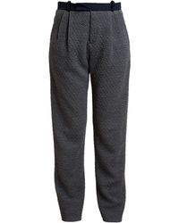 1205 - Quilted Wool Tapered Trousers - Lyst