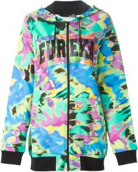 Love Moschino Oversized Printed Hoodie multicolor - Lyst