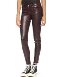 Blk Dnm Coated Jeans 26 Empire Red - Lyst