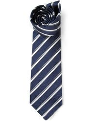 Etro Striped Pointed Tip Tie - Lyst