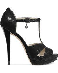 Michael Kors Michael Diana T-strap Platform Sandals - Lyst