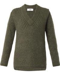 Fendi V-Neck Sweater khaki - Lyst