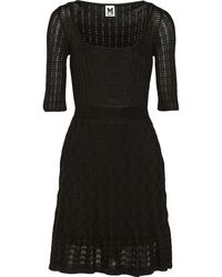 M Missoni Crochet-knit Cotton-blend Dress - Lyst