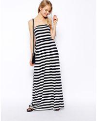 Asos Bandeau Maxi Dress in Stripe - Lyst