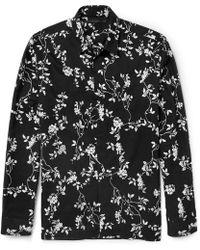 Haider Ackermann Botantical-Print Cotton Shirt - Lyst