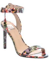 DV by Dolce Vita Tropical Floral Print Leather 'Berkeley' Ankle Strap Sandals floral - Lyst